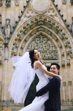 Pre-wedding photo in Prague. Prague, Wedding Photos, Wedding Photography, Wedding Dresses, Fashion, Marriage Pictures, Bride Dresses, Moda, Bridal Gowns