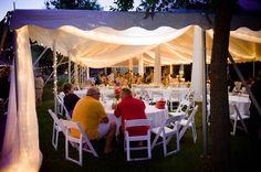 Backyard wedding reception. Inver Grove Heights, MN