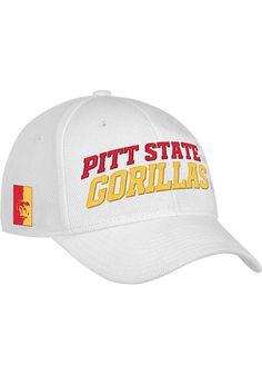 b557ec42dda06 Pitt State Gorillas Adidas White Camp Structured Adjustable Hat  http   www.rallyhouse