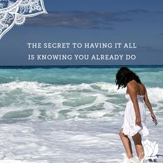Sometimes, the key to getting what you want is simply to get out of your own way ;)