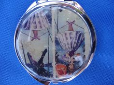 Haunted Mansion Disney inspired stretching portrait parasol girl compact by ImAsMADaSaHaTTeR, $15.00