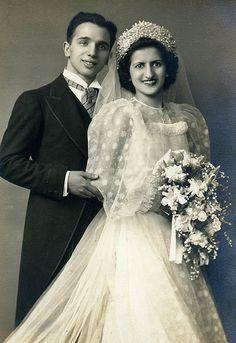 April 7, 1940 Wedding Day of Vincent Mario Cacciatore and Mary LaTorre Cacciatore.