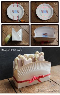 paper plate craft biscuit box & DIY: Paper Plate Berry Baskets | Pinterest | Berry Decorating and Box
