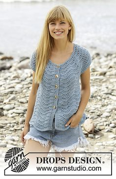 Ravelry: 168-31 Shore Line Cardigan pattern by DROPS design