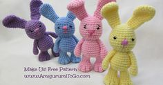 """Little Bigfoot Bunny, Here is an older pattern of mine that is part of a series I designed in 2012 called the """"Little Bigfoots..."""