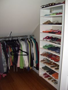 angled ceiling closet - Google Search More