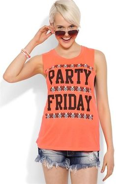 Deb Shops Party Friday Tank Top with Party Friday Screen $10.00
