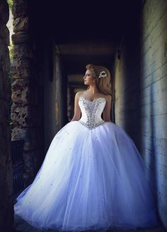 $249-2016 Crystals Princess Ball Gown Wedding Dresses Sweetheart Neck Long Luxury Bridal Gowns