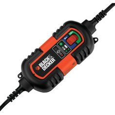 BLACK & DECKER BM3B Battery Maintainer/Trickle Charger • Battery charger & maintainer • 500W power converter with overload & thermal protection • Two 120V power outlets • 1 USB port & 12V outlet • Bui