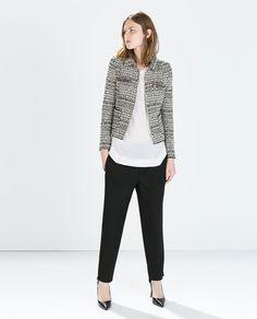 Image 2 of SHORT ZIPPED JACKET from Zara