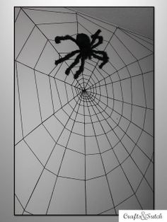 Crafts & Sutch: Spider Web Wall For Spiderman room (do web in white or gray)