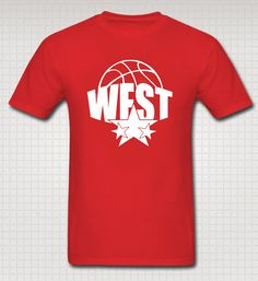 "NBA All-Star Game Western Conference Fan T-shirt by AllStarGear. Use code ""ASG10PINS"" for 10% off your purchase."