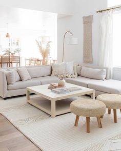 What are your secrets for adding seating to a smaller scale living room? ✨ One of the big design challenges for any living room is making… Home Living Room, Apartment Living, Living Room Decor, Bedroom Decor, Home Room Design, Home Interior Design, Living Room Designs, Living Room Inspiration, Home Decor Inspiration