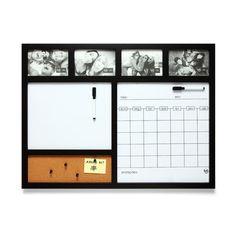 Painel porta retrato calendario preto - Ludi