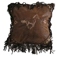 Carstens Inc. Flying Horse Embroidered Horse Throw Pillow