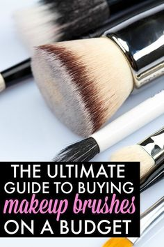 If you want to upgrade your drugstore makeup brushes to a professional (and cheap!) set but don't know where to start, this Makeup Brushes 101 Guide will teach you EVERYTHING you need to know - the best brand to give you the biggest bang for your buck, th Cute Makeup, Gorgeous Makeup, Beauty Makeup, Casual Makeup, Makeup Geek, Awesome Makeup, Hair Makeup, Makeup Guide, Makeup Tools