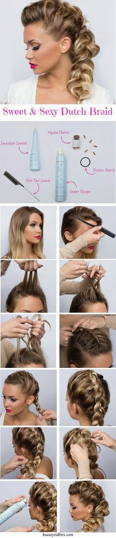 Manucure And Makeup: Sweet & Sexy Side Braid Tutorial