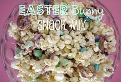 Super Easy sweet and salty snack mix perfect for Easter baskets, school parties, etc.  Ready to enjoy in less than 20 minutes!  Click over for the recipe