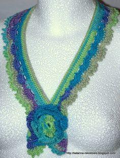 Necklace crochet/ Szydełkowy naszyjnik