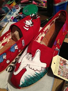 Dr. Seuss | Community Post: 25 Beautifully Hand-Painted TOMS For Every Fandom