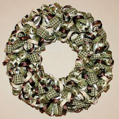 How to Make a Wreath Out of Ribbon
