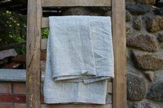 Linen Towel - Natural linen towel, organic linen flax towel, bath towel