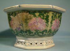 Vintage China Export porcelain flower, bonsai pot c early 1900s unused u