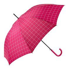 Paraguas Gotta —#11659 Paraguas largo de mujer. 63/8 Automático con varillas de fibra de vidrio. Estampado cuadro. Tejido poliéster. Surtido de 4 colores. Colección 2016. #umbrella #fashion #trend