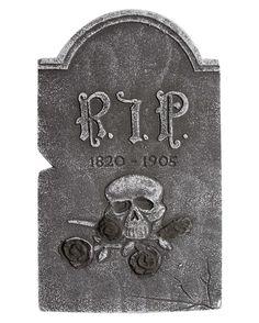 Halloween Deko Grabsteine Friedhof Set 24 tlg Skelett Grab Gruseldeko Horror