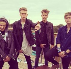 """Okay boys serious face. Connor looking good babe! James, too hot. Tris, perfection is you. Brad, - uhhh Brad?"