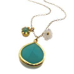 Aventurine Stone Charm Necklace