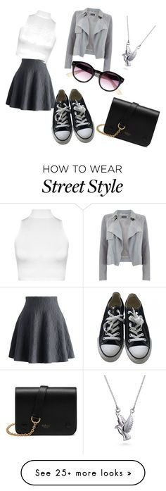 """""""Street style"""" by lenulienkaondrusova on Polyvore featuring Chicwish, WearAll, Converse, Mint Velvet, River Island, Mulberry and Bling Jewelry"""