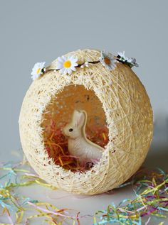 DIY Project Idea:  How to Make Easter Baskets from Sugar String   Apartment Therapy Reader Project Tutorials