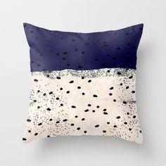 Raindots Throw Pillow by Miriam Sironi