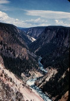 Grand Canyon of the Yellowstone, Yellowstone National Park, 1951