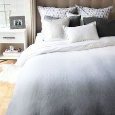 Upgrade your dorm bedding with our stylish duvet covers and comforter sets. These cute college bedding styles come in twin xl, twin, full, and queen duvets. Master Bedroom, Bedroom Decor, College Bedding, Dreams Beds, Grey Ombre, Twin Comforter, New Beds, Queen