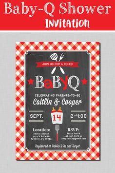 bbq couples baby shower invite bun in the oven invitation baby q
