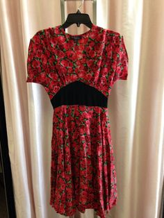 Trashy Diva Claire dress in Red Roses