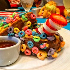 Seuss at Sea - Dr Seuss Green Eggs and Ham Breakfast on Carnival Freedom - Hortons Cereal Crusted French Toast