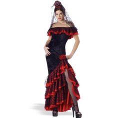 af35f55440d3 Amazon.com: In Character Costumes, LLC Senorita Panne Gown: Clothing  Senorita costume · Spanish Dancer CostumeFlamenco ...