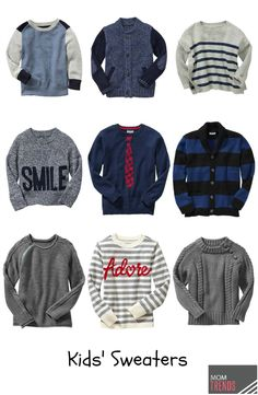 Fall Sweaters for Kids | MomTrends #fashion #kids #children