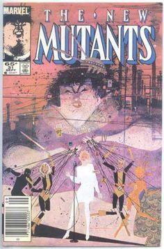 New Mutants 31 - Bill Sienkiewicz Comic Book Covers, Comic Books Art, Book Art, Superhero Series, The New Mutants, Classic Comics, Book Images, Illustrations, John Keats