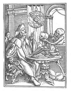 Woodcut by Hans Holbein the Younger from the Dance of Death, 1526