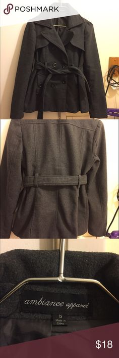 Gray pea coat Pea coat from forever21. Been worn plenty of times but still in good condition Jackets & Coats Pea Coats