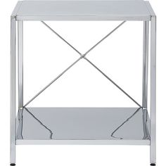 harvey chrome nightstand in bedroom furniture | CB2