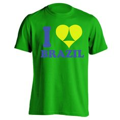 I Heart Brazil. Avail in Mens T-shirts, Womens T-shirts, Tank Tops, & Sweatshirts. Get it Today @ DonkeyTees.com w/ FREE SHIPPING using code: PINNING at checkout.