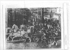 19th century British fire engine scene