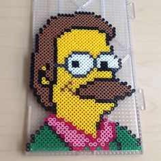Flanders - The Simpsons perler beads by smargetts