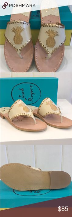 da32cf6d8ca0bf Authentic Jack Rogers Pineapple Sandals NEW From my store inventory.  Purchased wholesale directly from Jack