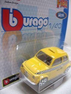 miniaturas - Táxi: Bburago: Fiat 500 TAXI
